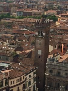 A vista do alto da torre dei Lamberti