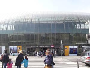 A estaçaõ central de estrasburgo já é um ponto a ser clicado.
